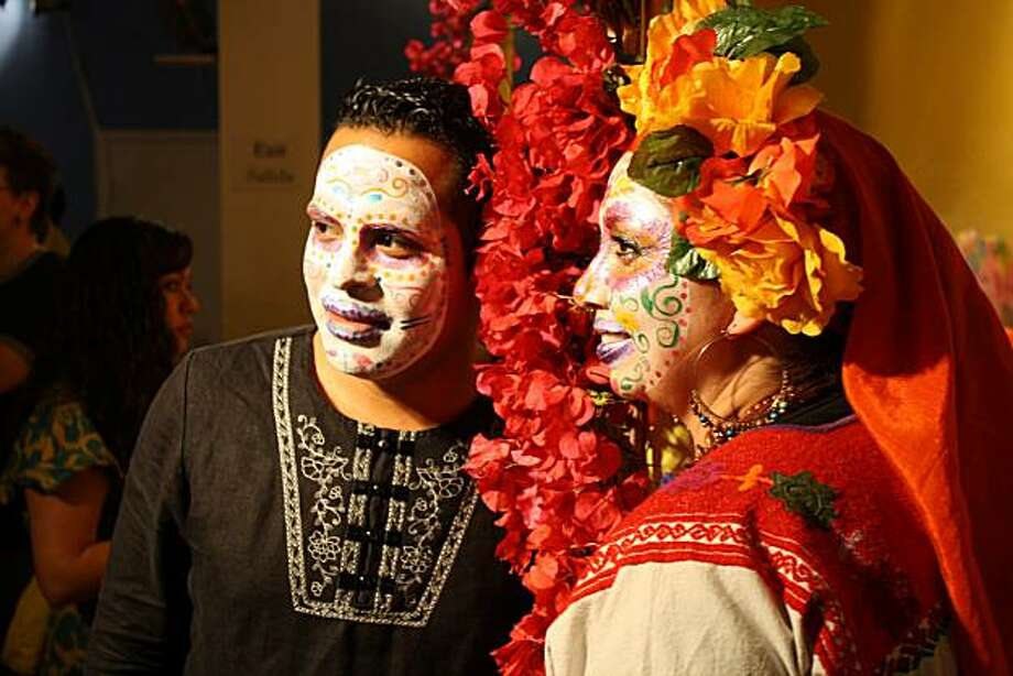 The tradition of face painting is associated with Day of the Dead festivities, and a face painting workshop will be offered Saturday at the Mission Cultural Center. Photo: Adrian Arias 2009