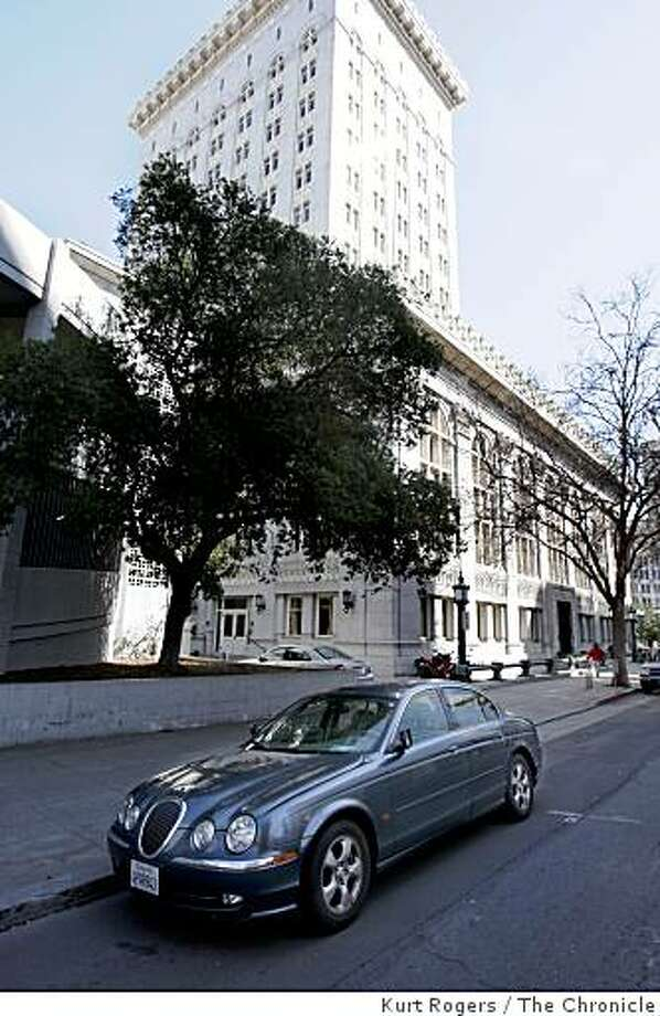 Desley Brooks Jaguar parked on the 14th street side of the City Hall.on Tuesday  Mar 10,  2009 in Oakland , Calif Photo: Kurt Rogers, The Chronicle
