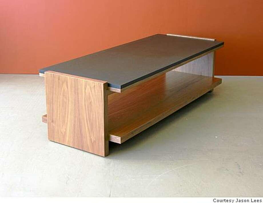 Jason Lees' Span coffee table that has a black Richlite top. Photo: Courtesy Jason Lees