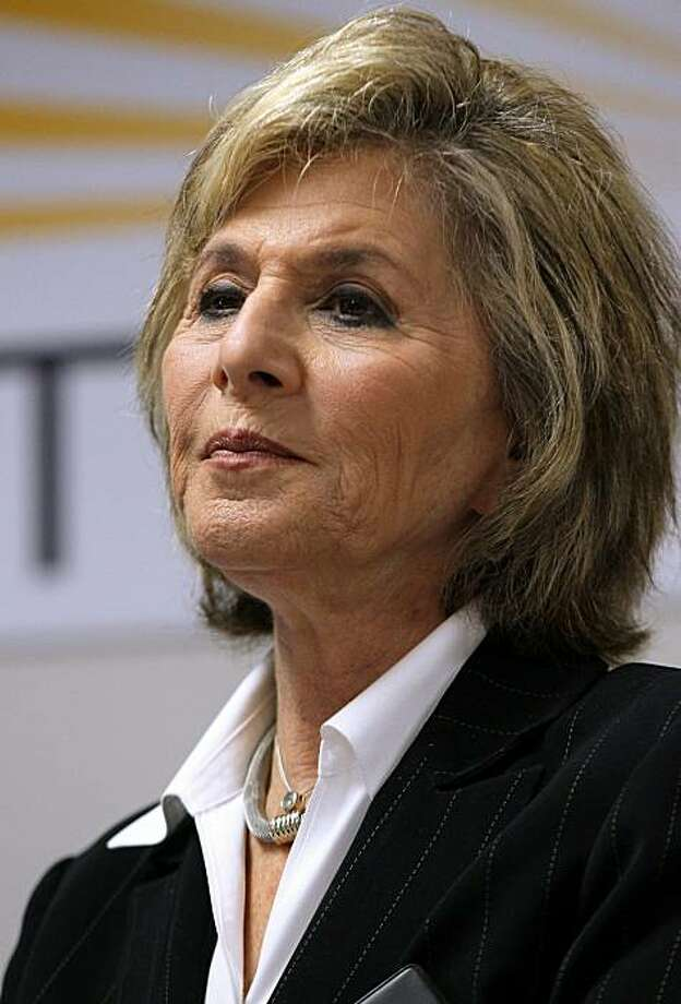 SAN JOSE, CA - OCTOBER 25:  U.S. Sen. Barbara Boxer (D-CA) looks on during a news conference afte touring the Stion production facility on October 25, 2010 in San Jose, California. With one week to go before the election, U.S. Sen. Barbara Boxer continuesto campaign throughout the state of California in hopes of keeping her senate seat by defeating her republican challenger and former HP CEO Carly Fiorina. Photo: Justin Sullivan, Getty Images