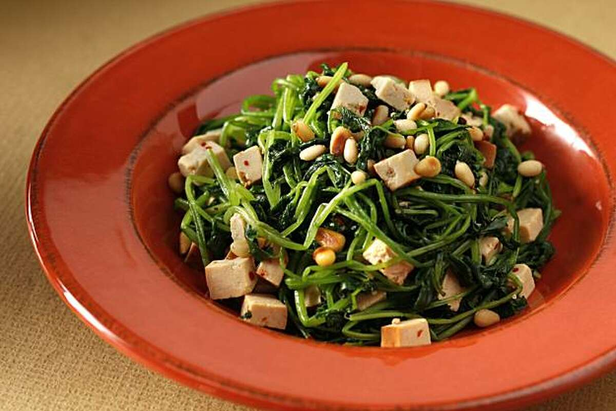 Cilantro tofu salad as seen in San Francisco, Calif., on October 20, 2010. Food styled by Lindsay Patterson.