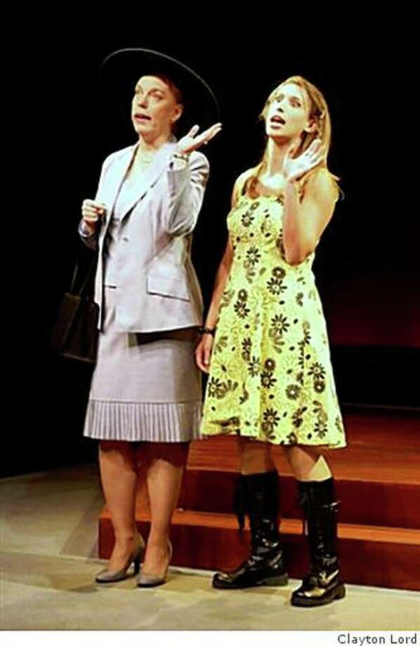 """Stephanie Hunt (left) and Michelle Pava Mills in Word for Word's """"More Stories by Tobias Wolff"""" Photo: Clayton Lord"""