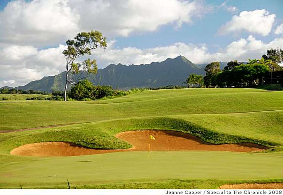 Much of Princeville's greens remain verdant during the renovation of the Princeville Resort on Kauai. Photo: Jeanne Cooper, Special To The Chronicle 2008