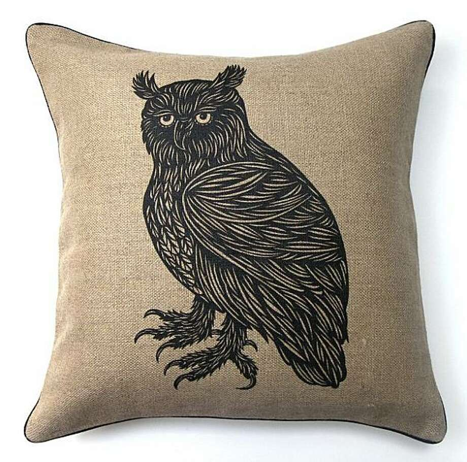 $120 Owl Pillow from Patch NYC (www.patchynyc.com) Photo: Patch NYC