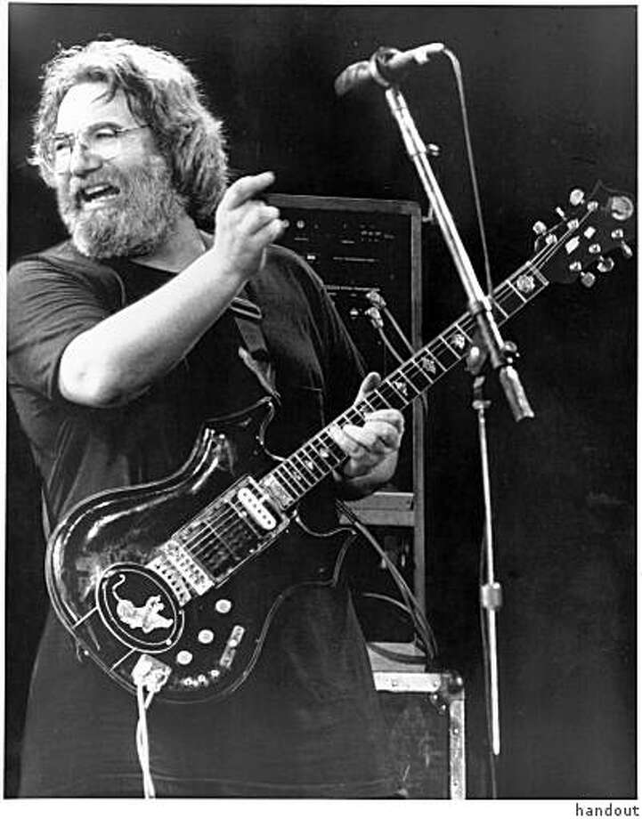 Jerry Garcia plays his famous Tiger guitar during an undated concert believed to be from the mid- to late-80s. Photo: Handout