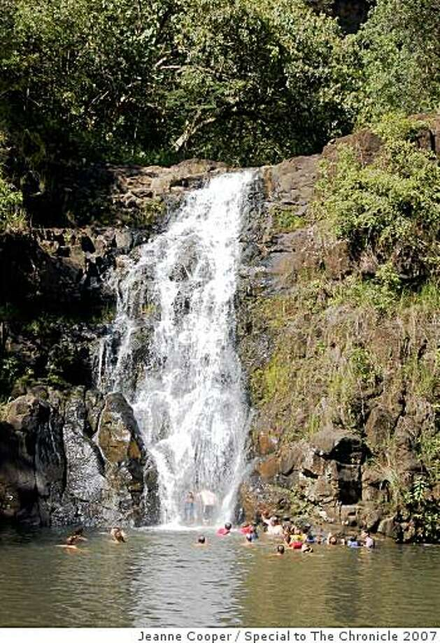 Waihi Falls are the reward for an easy walk through botanical gardens in Waimea Valley. Photo: Jeanne Cooper, Special To The Chronicle 2007