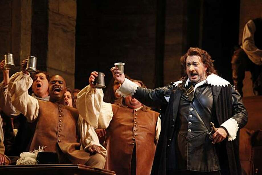 "Placido Domingo performs as Cyrano de Bergerac during a final dress rehearsal of ""Cyrano de Bergerac"" at the War Memorial Opera House on Thursday, October 21, 2010 in San Francisco, Calif. Photo: Lea Suzuki, The Chronicle"