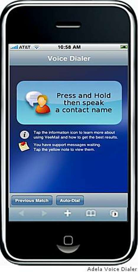 Adela Voice Dialer is an iPhone app that lets you dial numbers on your phone using voice commands. Photo: Adela Voice Dialer