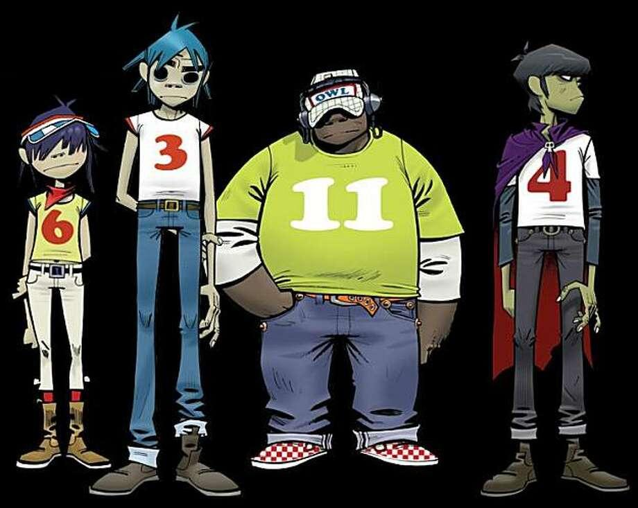 Gorillaz cartoon band Photo: Virgin