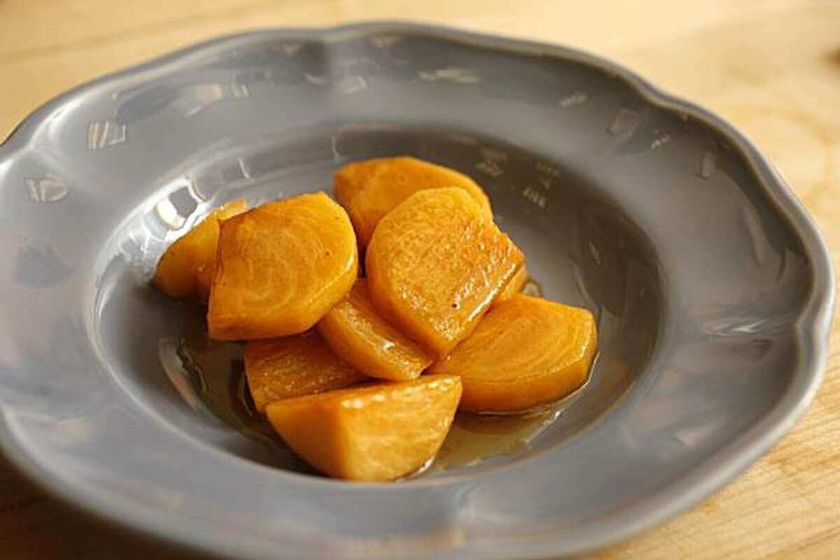 Persimmons Grand Marnier as seen in San Francisco, Calif., on October 20, 2010. Food styled by Sophie Brickman