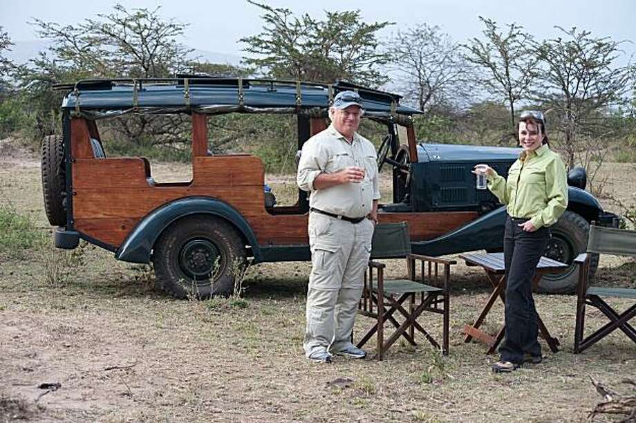 Michael and Donna Lovas of Pleasanton in Maasai Mara National Park, Kenya, Africa. Photo: *
