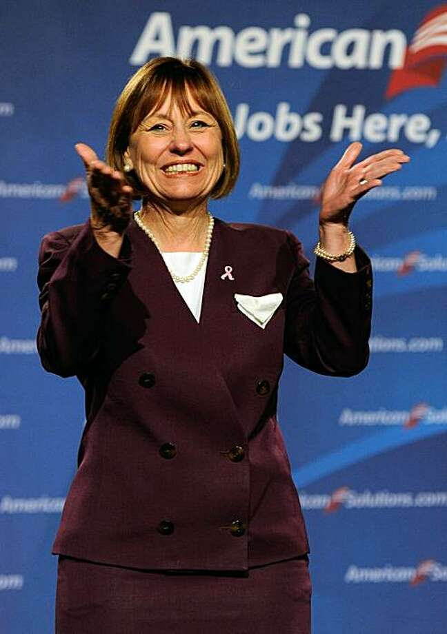 """LAS VEGAS - OCTOBER 21:  U.S. Republican Senate candidate Sharron Angle is introduced at Newt Gingrich's """"Jobs Here, Jobs Now"""" tour at the JW Marriott Las Vegas October 21, 2010 in Las Vegas, Nevada. Angle is challenging U.S. Senate Majority Leader HarryReid (D-NV) in a tight race. Photo: Ethan Miller, Getty Images"""