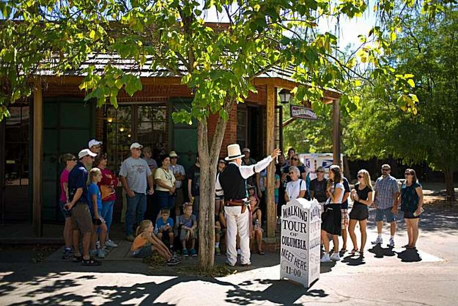 A walking tour in Columbia, Calif. Photo: Anne Williams, Special To The Chronicle