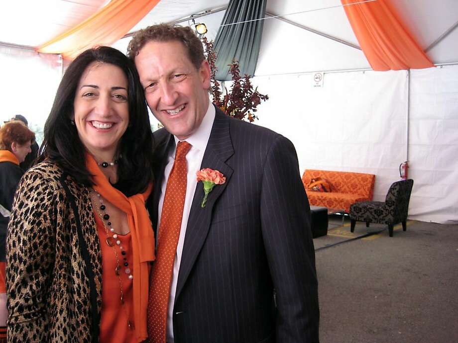 Larry Baer, president and chief executive officer of the SF Giants and his wife, Pam Baer, a board member for San Francisco General are visible on the San Francisco social and philanthropy scene. Larry is a member of several boards and the two are co-chairs of the drive to complete fundraising for SF General.  Photo: Catherine Bigelow, Special To The Chronicle