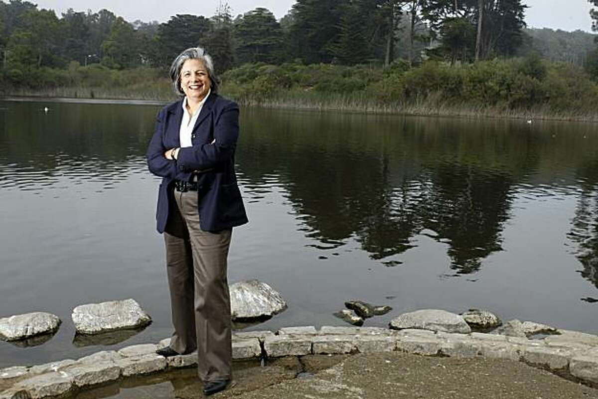 Susan Leal a former SF supervisor, mayoral candidate, and former head of the PUC posses at Mountain Lake Park Tuesday, October 19, 2010, San Francisco, Calif.