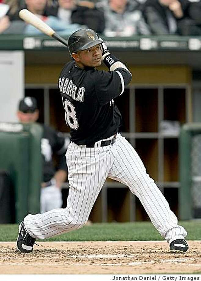 CHICAGO - APRIL 07: Orlando Cabrera #18 of the Chicago White Sox swings at a pitch against the Minnesota Twins during the Opening Day game on April 7, 2008 at U.S. Cellular Field in Chicago, Illinois. (Photo by Jonathan Daniel/Getty Images) Photo: Jonathan Daniel, Getty Images