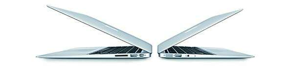 handout image of the new macbook air laptops Photo: Apple