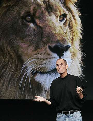 CUPERTINO, CA - OCTOBER 20:  Apple CEO Steve Jobs announces the new OSX Lion operating system as he speaks during an Apple special event at the company's headquarters on October 20, 2010 in Cupertino, California. Jobs announced the new OSX Lion operatingsystem for Mac computers and iLife 11. Photo: Justin Sullivan, Getty Images