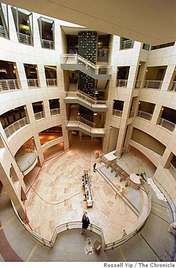 Atrium of the San Francisco Main Library. Photo: Russell Yip, The Chronicle