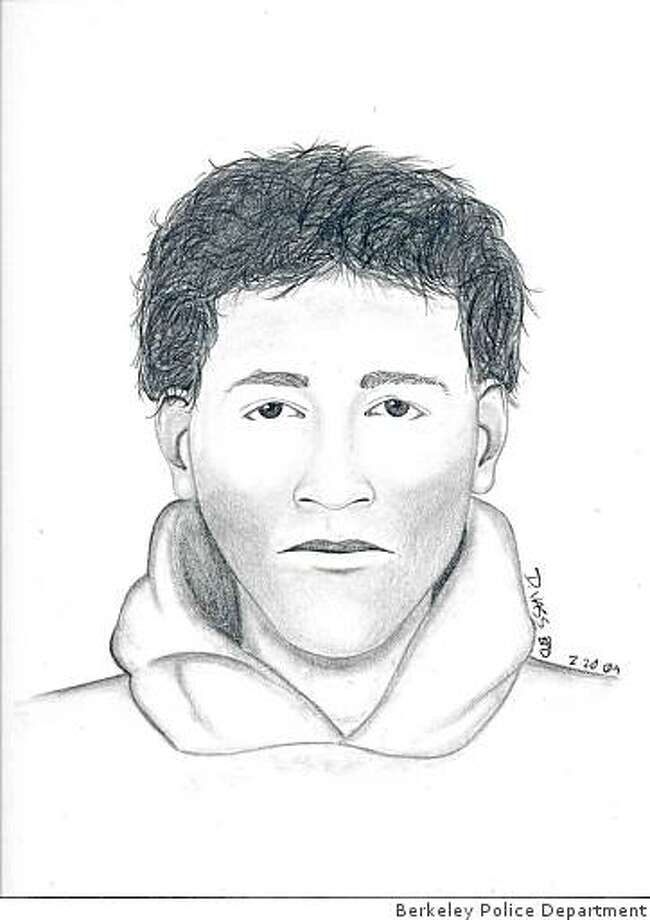 Berkeley police released this sketch Monday, Feb. 23, 2009 of a man who has been accosting women from behind and touching them after lifting their skirts. Photo: Berkeley Police Department