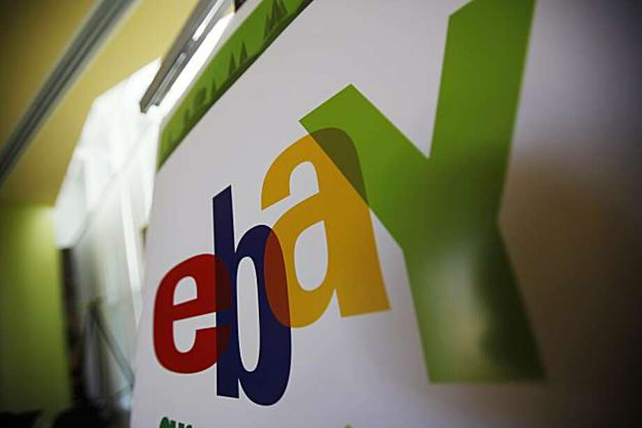 FILE - In this Feb. 24, 2010 file photo, an eBay logo is seen at their offices in San Jose, Calif. EBay Inc. reports quarterly financial earnings Wednesday, Oct. 20, 2010, after the market close. Photo: Paul Sakuma, AP