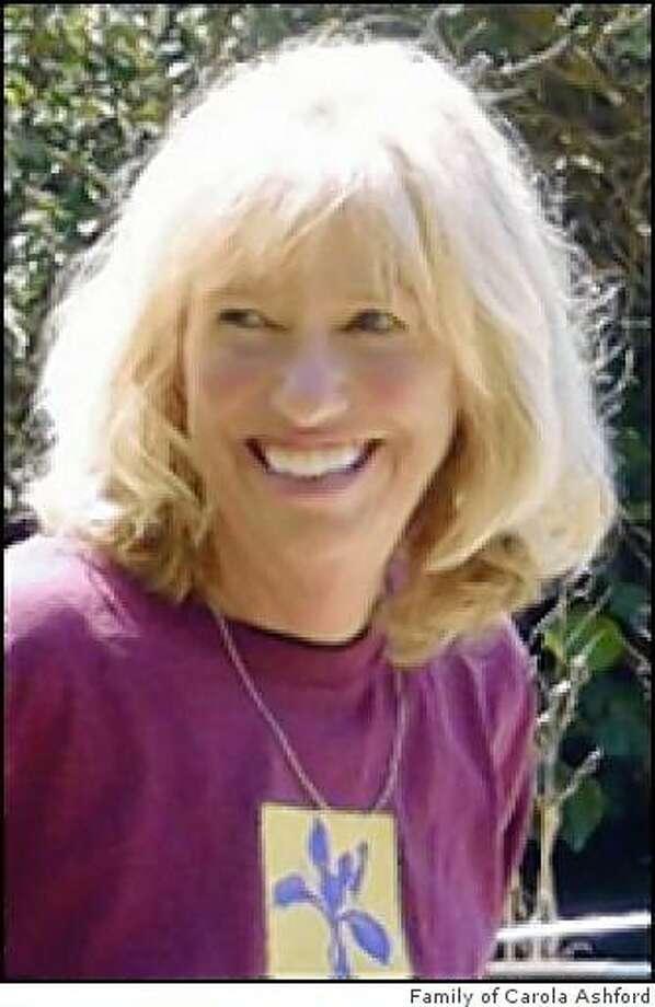 Carola Ashford, a San Anselmo landscape architect who was project manager of the Alcatraz garden restoration project, died  Feb 24, 2009 Photo: Family Of Carola Ashford