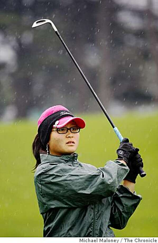Grace Na hits off the 14th tee during the quarterfinal round of the 2009 San Francisco City Golf Championship at Harding Park golf course on Sunday, March 1, 2009. Photo: Michael Maloney, The Chronicle