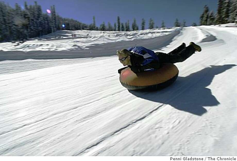 Snow tubing at Sierra at Tahoe. Photo: Penni Gladstone, The Chronicle