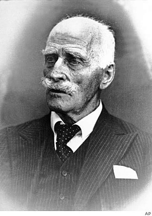 """**APN ADVANCE FOR SUNDAY MARCH 1** **  FILE  **  This is a July 20 1944 file photo of Norwegian author Knut Hamsun. Some 15 years ago, sculptor Skule Waksvik started work on a statue of 1920 Nobel Literature Prize winner Knut Hamsun, a Norwegian who was adored by his countrymen for his writing but despised for supporting the Nazis during World War II  """"No one wanted it,"""" said Waksvik. """"I threw it away."""" The idea of honoring Hamsun, reviled as a traitor after 1940-45 Nazi occupation of Norway, stirs angry debate here, 57 years after his death on Jan. 19, 1952. Hamsun supported Norwegian traitor Vidkun Quisling and his collaborator government, gave his Nobel medal to Nazi propagandist Joseph Goebbels in 1943 and wrote an obituary praising Adolf Hitler in 1945 . (AP Photo / Scanpix  Norway)  **  NORWAY OUT  NO SALES  ** Photo: AP"""