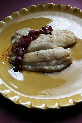 Sole piccata with brown butter and grapes, a recipe by Marlene Sorosky ...