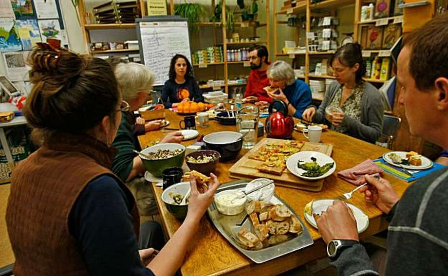 Members of the Climate Change Action Group gather for a pot luck meeting, Tuesday Feb. 24, 2009, in Berkeley, Calif. Photo: Lacy Atkins, The Chronicle