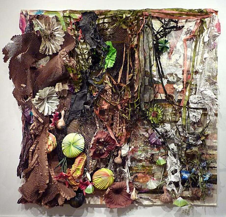 """Underbelly"" (2010) mixed media on paper by Judy Pfaff Photo: Shannon Trimble, Braunstein/quay Gallery, S.f."