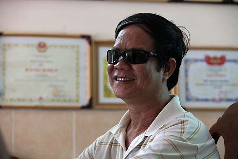 Nguyen Quoc Phong, 52, created a boarding school for the blind, called, Mai Am Thien An, in 1999, a year after losing his sight in a traffic accident. Photographed at the school in Ho Chi Minh City, Vietnam, on August 12, 2010. Photo: Le Quang Nhat