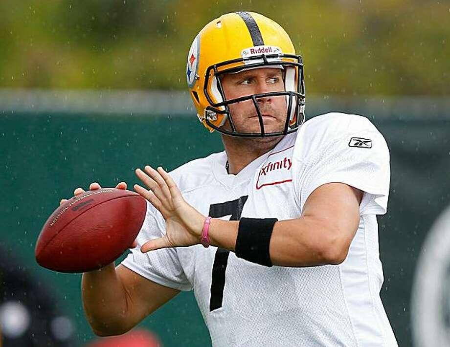 PITTSBURGH - OCTOBER 14:  Ben Roethlisberger #7 of the Pittsburgh Steelers practices at the Pittsburgh Steelers South Side training facility on October 14, 2010 in Pittsburgh, Pennsylvania. Photo: Jared Wickerham, Getty Images