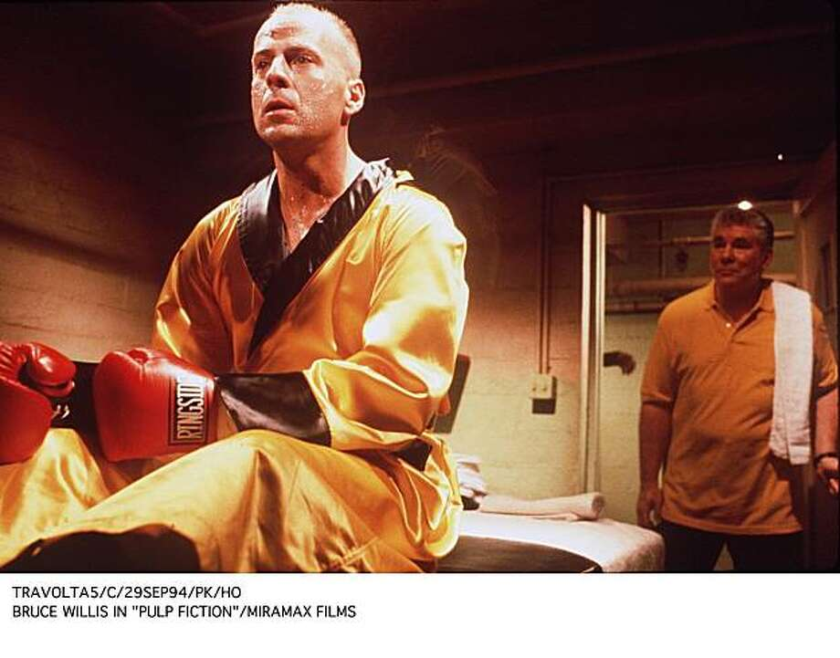 """Bruce Willis played a washed-up boxer in the violent action comedy """"Pulp Fiction."""" Photo: Miramax"""