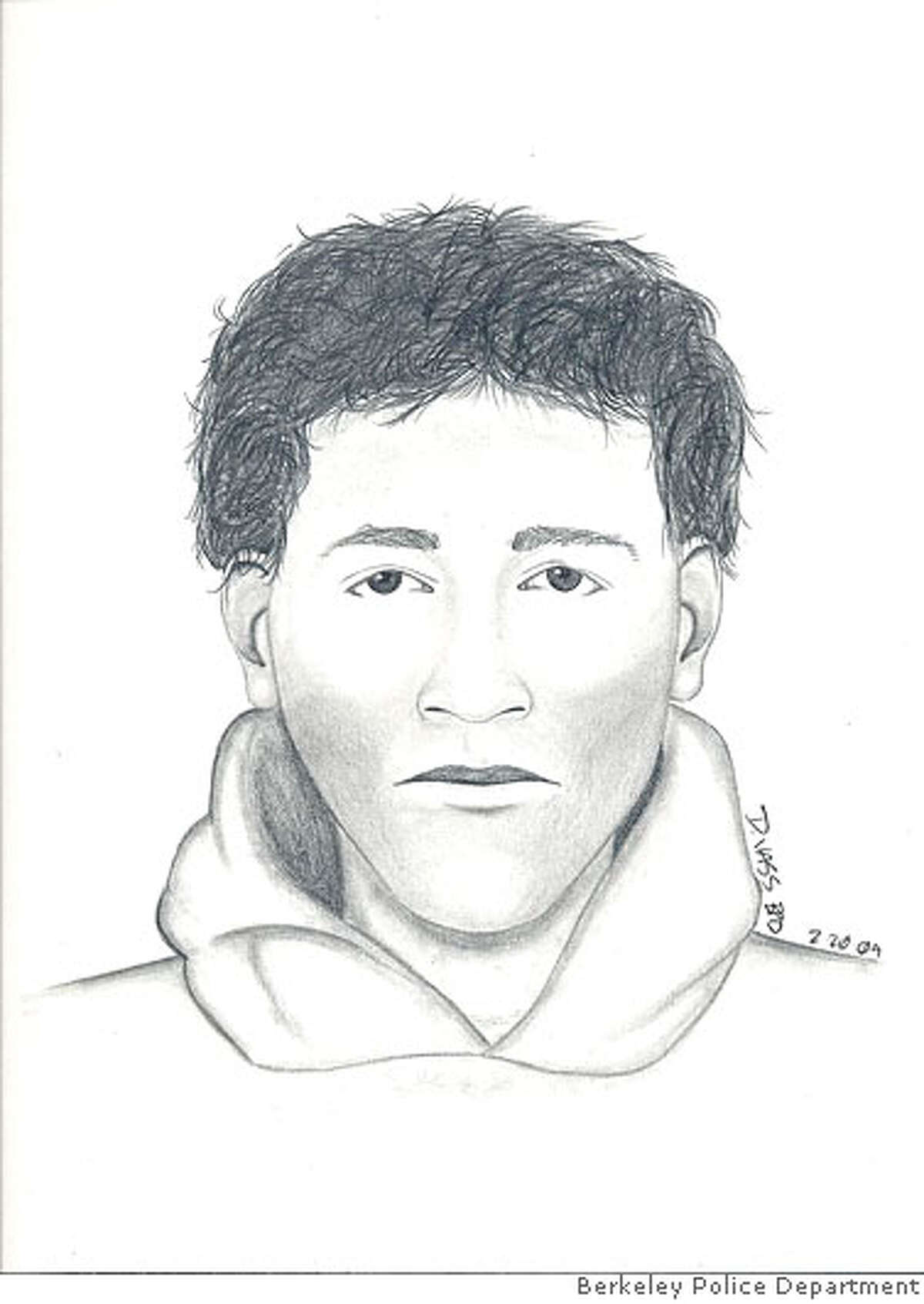 The suspect is described as: White Male, 20s, 5-10 tall, 160-170 lbs, medium build, Short dark wavy hair