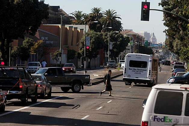 International Blvd at 30th Avenue is a part of the Fruitvale neighborhood seen on Wednesday Oct. 13, 2010 in Oakland, Calif., could soon be the focus of a gang injunction. Photo: Mike Kepka, The Chronicle