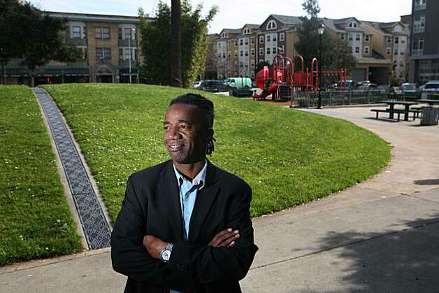 Walter Hood, an urbanist who is dedicated to creating public spaces, stands in Lafayette Square, one of his creations, on Thursday Feb. 19, 2009 in Oakland, Calif. Photo: Mike Kepka, The Chronicle