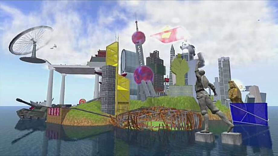 Chinese artist Cao Fei created RMB City in Second Life as a  collaborative space where artists could blur the boundaries between  the real and virtual worlds. Photo: Video Courtesy Vitamin Creative