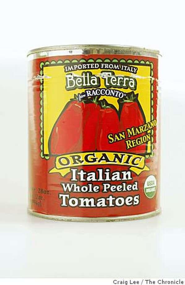 Bella Terra tomato can in San Francisco, Calif., on February 19, 2009. Photo: Craig Lee, The Chronicle