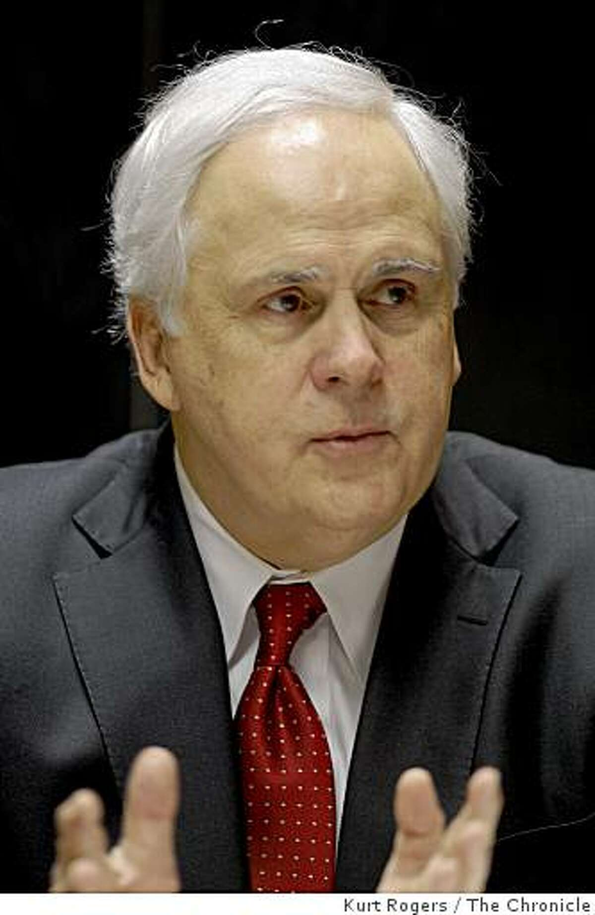 Frederick W. Smith, the founder, chairman, president and CEO of FedEx.. on Wednesday Feb 11, 2009 in San Francisco , Calif