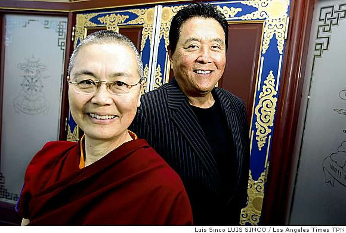 """BUDDHIST AUTHOR: The Venerable Tenzin Kacho let Robert Kiyosaki open her mind to practical matters like health insurance. She reprioritized a bit while they wrote """"Rich Brother, Rich Sister: Two Different Paths to God, Money and Happiness."""" Illustrates BUDDHIST-AUTHOR (category a) by Louis Sahagun (c) 2009, Los Angeles Times. Moved Wednesday, Feb. 11, 2009. (MUST CREDIT: Los Angeles Times photo by Luis Sinco.) The Venerable Tenzin Kacho let Robert Kiyosaki open her mind to practical matters like health insurance. She reprioritized a bit while they wrote """"Rich Brother, Rich Sister: Two Different Paths to God, Money and Happiness."""" Illustrates BUDDHIST-AUTHOR (category a) by Louis Sahagun (c) 2009, Los Angeles Times. Moved Wednesday, Feb. 11, 2009. (MUST CREDIT: Los Angeles Times photo by Luis Sinco.)"""