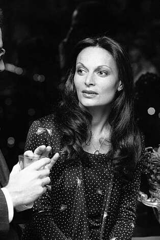 Former Princess Diane Von Furstenberg is shown during a party to celebrate the publishing of Miss Von Furstenberg's book on beauty by Simon and Schuster in New York, Feb. 28, 1977. The former princess also designs dresses and a line of products. (AP Photo/Ray Stubblebine) Photo: Ray Stubblebine, ASSOCIATED PRESS