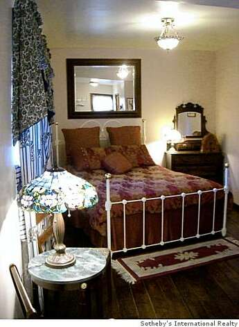 One of the Guest rooms at Webster House Bed   Breakfast InnOffered For Sale$1,795,000Webster House Bed   Breakfast InnRegistered Alameda monumentBuilt 1854Residence 3,000 square feet per ownerRoof approximately 8 years oldCommercial kitchenTea roomThree guest rooms each with bathroom on ground floorOne detached cabin guest room with bathAll four guest rooms with radiant gas heatersSecond floor owner?s quarters with two bedrooms and two bathsHardwood and softwood floors throughoutArchitectural integrity has been maintainedLarge ground floor back porch with water featureLarge sunny 2nd floor terrace Photo: Sotheby's International Realty