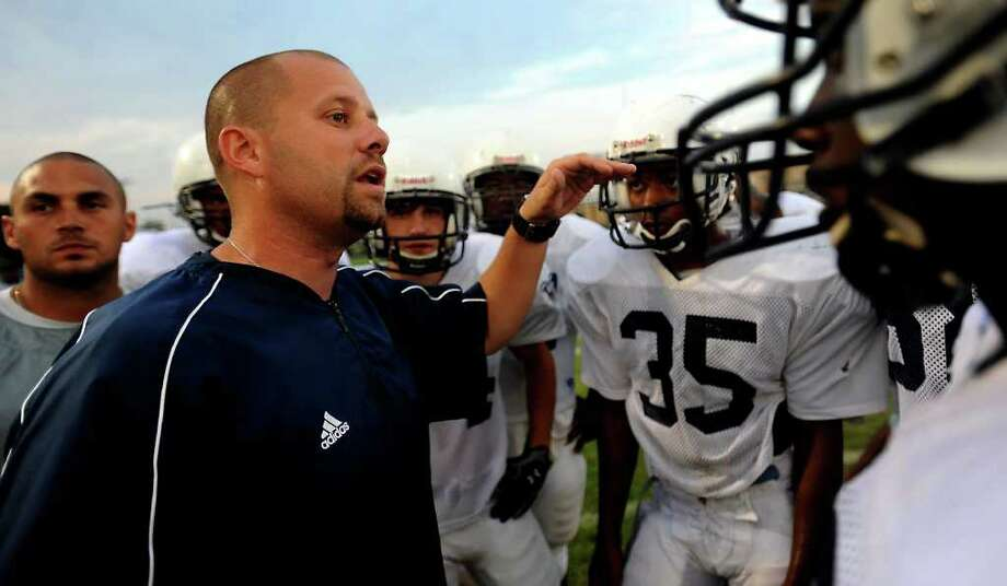 West Orange-Stark's Toby Foreman coaches during the JV game at Nederland High School in Nederland, Thursday.  Tammy McKinley, The Enterprise Photo: TAMMY MCKINLEY / Beaumont