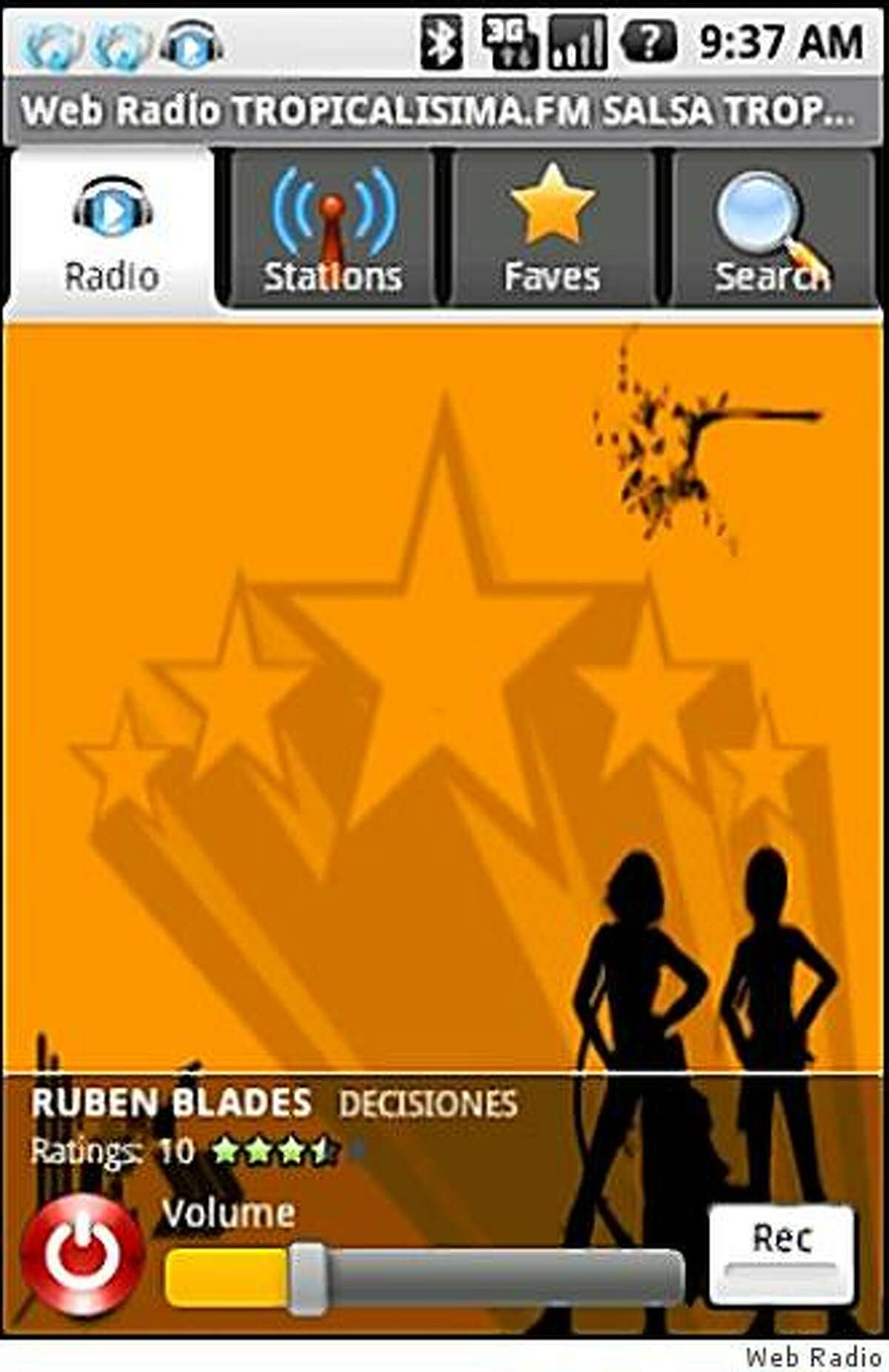 Web Radio (formerly Android Radio) is the app-a-day for February 18, 2009.