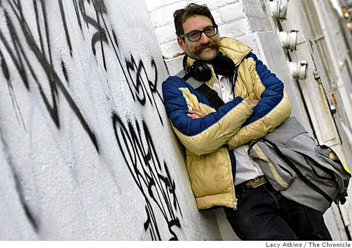 Oakland musician Scott Pinkmountain poses for a photograph, Thursday Feb. 12, 2009, in San Francisco, Calif.