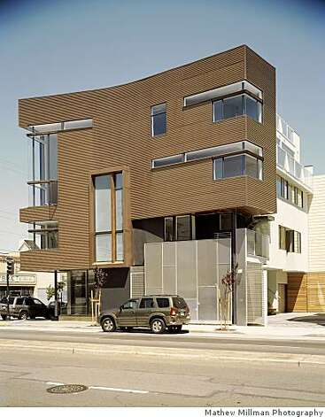 "201 Guerrero Street at 14th is one of the city's most provocative residential buildings. ""There's a very interesting sophistication about this building,"" says John Rahaim, the city's new planning director. ""In my mind, the composition works."" Photo: Mathew Millman Photography"