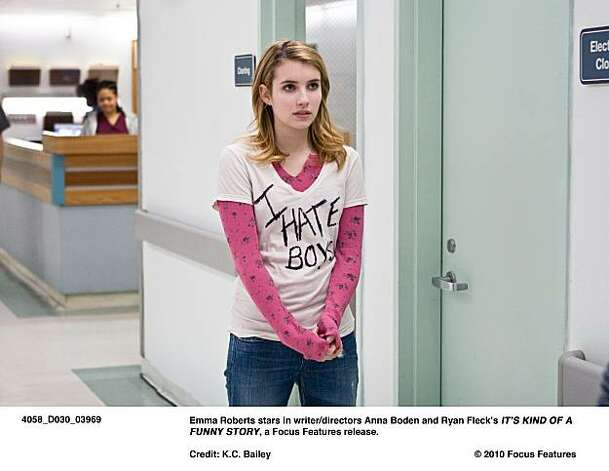 Emma Roberts stars in writer/directors Anna Boden and Ryan FleckÕs ITÕS KIND OF A FUNNY STORY, a Focus Features release. Photo: K.C. Bailey, © 2010 Focus Features