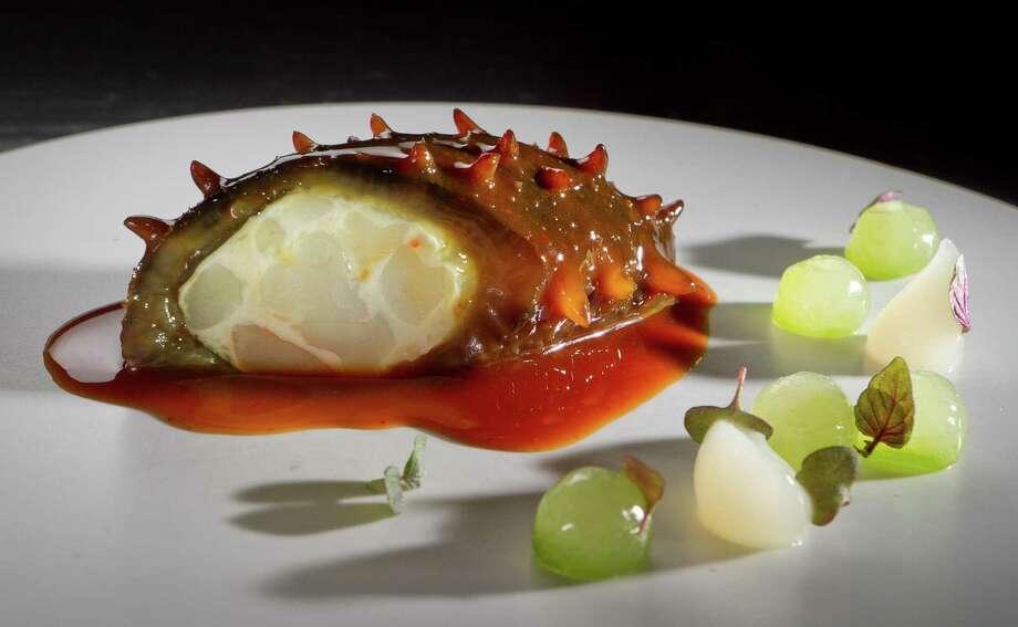Sea cucumber stuffed with shrimp at Benu in S.F. Photo: John Storey / John Storey / ONLINE_YES